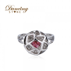 Dancingstone wedding jewelry 925 silver rings for women silver ring SW Red zircon wedding rings party jewelry 01J-2024-R