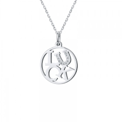 """Luck""  Four Letter Word necklaces DIY 925 sterling silver necklaces LC-0200"