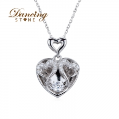 Dancingstone Gift For Mother's Day MOM Pendant With Rose Gold Plated Special Lovely Jewelry Gift 01J-2181
