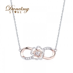 Dancingstone 925 Silver Jewelry Blossom Collection Forever Love Necklace 01J-2264