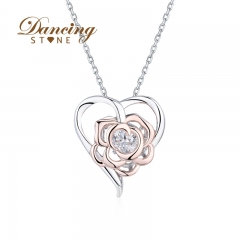 Dancingstone Jewelry Blossom Collection Love and Flower Pendant 01J-2268