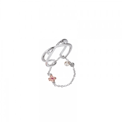 01Jewelry Flower Collection 925 Silver Rring 01J-2836-R