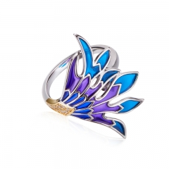 01 Jewelry Enamel Collection Colorful Feather Rring 01J-2932-R